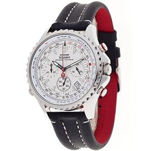 Detomaso Teramo Silver DT1029-B DT1029-B – Reloj cronógrafo de Cuarzo