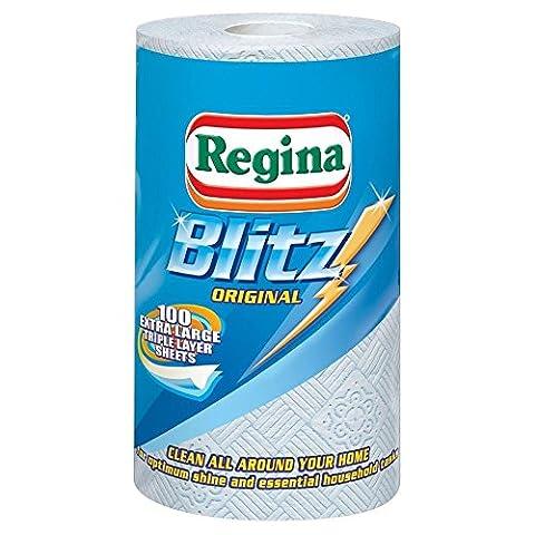 Regina Blitz All Purpose Kitchen Towels - 100 Sheets per Roll - Pack of 6