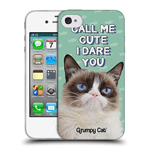 Offizielle Grumpy Cat No Zitate Soft Gel Hülle für Apple iPhone 6 / 6s Niedlich