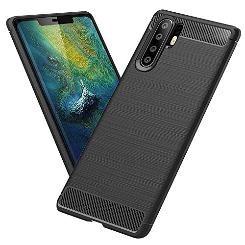 TopACE Hülle für Huawei P30 Pro, Ultra Dünn Vollständiger Schutz P30 Pro Handyhülle Anti-Fingerabdruck TPU Silikon Slim-Fit Case Schutzhülle für Huawei P30 Pro,Schwarz