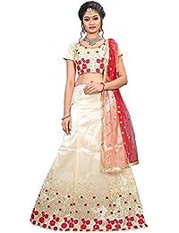 ShreeBalaji multicolor silk embroidary Lehenga Choli (SBE-024_Free Size)