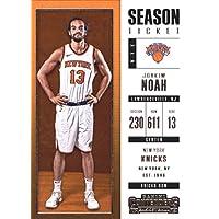 2017–18Dépasse Panini Season Ticket # 71Joakim Noah New York Knicks Basketball carte