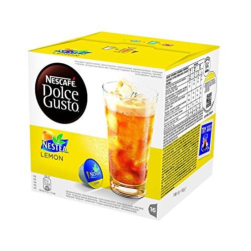NESCAFÉ DOLCE GUSTO NESTEA AL LIMONE Tè aromatizzato al limone 3 confezioni da 16 capsule [48 capsule]