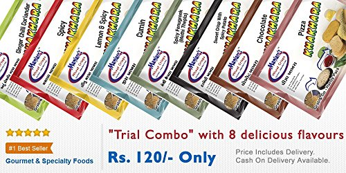 Maniarr's Khakhara TRIAL Combo (8 Packs, 8 Flavors, 360 gm) (ReadyToEat, Low Fat/Calorie, Not Fried & No Preservative) (Healthy Snacks) For Rs. 99