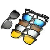 5dd7029e50 FOONEE Gafas de Sol Vintage, Gafas de Sol Polarizadas Magnéticas Juego de 5  Lentes,