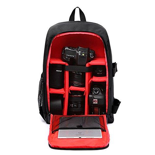 Preisvergleich Produktbild DCRYWRX DSLR-Kameratasche mit Laptop-Tasche Wasserdichter Regen Deckel 16 Zoll Rucksack-Notebook-Tasche Für Canon,  Nikon,  Sony, Red