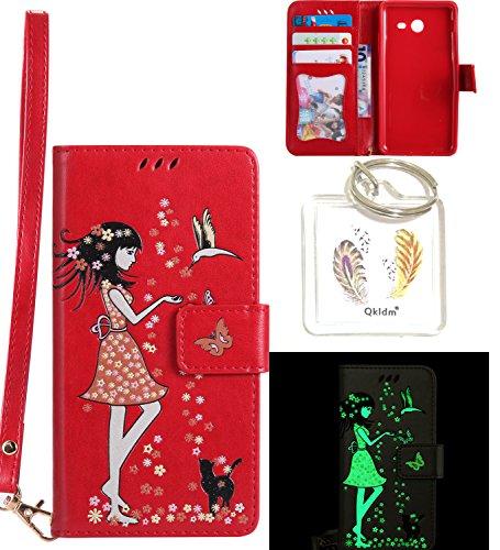 Preisvergleich Produktbild für Galaxy J5 2017 PU Fluoreszenz Leder Silikon Schutzhülle Handy case Book Style Portemonnaie Design für Samsung Galaxy J5 2017 (Version J530F) + Schlüsselanhänger ( DDL (6)