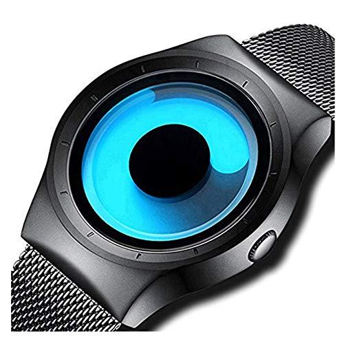 Harbour Swift Movement Blue Spinner Dial Black Shepard Metal Belt Men Watch Boys Watches BLVCIR