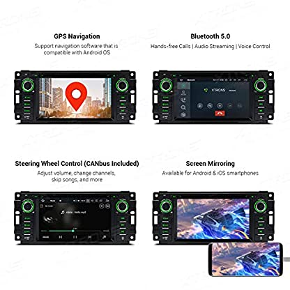 XTRONS-62-Android-4GB-RAM-64GB-ROM-Octa-Core-Autoradio-mit-Touch-Screen-Android-90-Multimedia-Player-Autostereo-untersttzt-3G-4G-Bluetooth-DAB-OBD2-CAR-Auto-Play-TPMS-FR-JeepDodgeChrysler