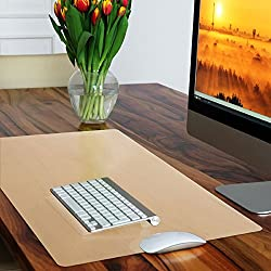 Casa Pura Non-slip Beige Desk Mat | Desk Pad With Smooth Surface | 50x65cm (1.6'x2') | Pvc & Phthalate Free | In 10 Colours