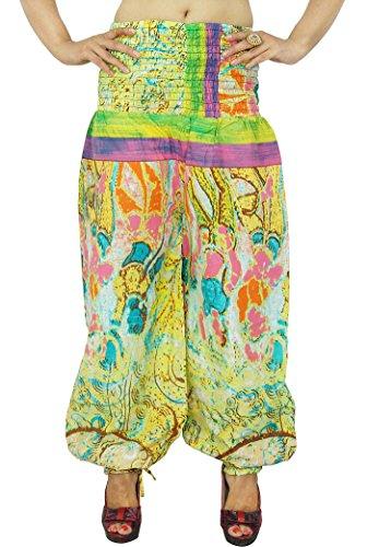 100% Coton Femmes Harem Été Porter Gypsy Pant Vert