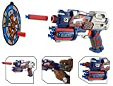 #9: Wishkey Super Hero Character Soft Suction Bullet Blaster Gun Toy with 6 Foam Bullets,Target Board Shooting Game for Kids