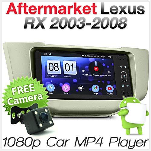 Tunez Autoradio / MP3-Player für Lexus RX350 RX300 RX 350 330 300 270 240 und Toyota Harrier XU30 ACU30 Baujahr 2003-2013 GPS Stereo HeadUnit Radioblende Kit MirrorLink Sat Nav Kit
