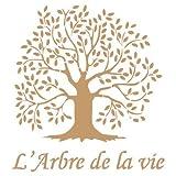 Stencil Deco Vintage Composición 036 Arbol Vida. Medidas aproximadas: Medida exterior del stencil: 20 x 20 cm Medida del diseño:15,7 x 17 cm