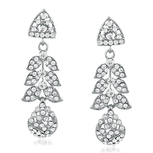 Apara Rhodium Austrian Diamond Necklace Set with Maang Tikka For Women