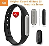 Original Newest Xiaomi 1S Band Bracelet IP67 Smart Wireless Bluetooth 4.0 Healthy Sports Miband Heart Rate Monitor for Mi Note/Pro Mi4 Redmi/Redmi2 Note/Note2 4G iPhone 5S 6 6 Plus 6S 6S Plus with IOS7.0 or Above (Newest Xiaomi Mi Band 1S) by Xiaomi