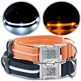 PetTouchID - LED Dog Collar, USB Rechargeable,...