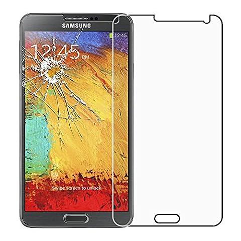 ebestStar - pour Samsung Galaxy Note 3 GT-N9000, N9002, N9005 - Film protection écran en VERRE Trempé - Vitre protecteur anti casse, anti-rayure [Dimensions PRECISES de votre appareil : 79.2 x 151.2 x 8.3 mm, écran 5.7'']