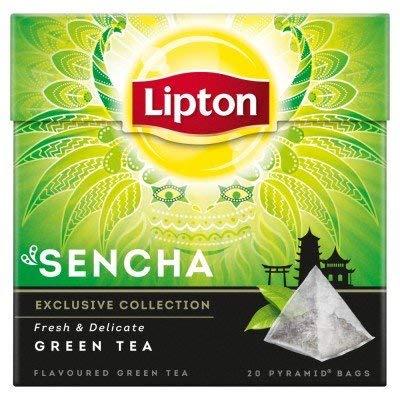 Lipton 4 Boxes Exclusive Collection Sencha Green Tea 20 Pyramid Tea Bags per Box