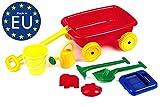 Kinder Sandwagen, Handwagen mit Strandspielzeug, Maße: 44 x 31x 25 cm, Kunststoff, Freilauf, Izzy Sport