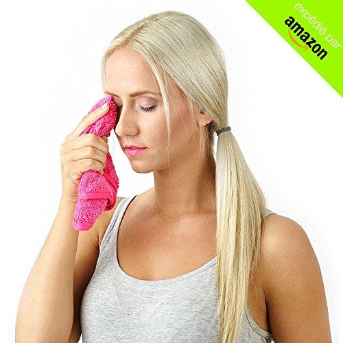 IMAKAR® Serviette démaquillante lavable Tous maquillages (même waterproof) - 100% naturelle - Réutilisable 1000 fois - Lavage en machine