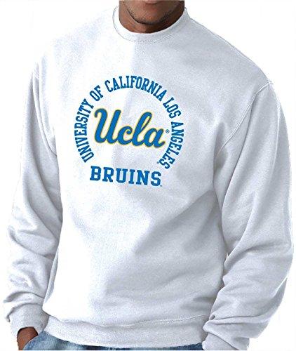 Adult Crewneck Fleece Sweatshirt (UCLA College Campus Farben Traditioneller Maler Bruins Erwachsene NCAA Team Spirit Crewneck Sweatshirt, Weiß, Herren, Weiß, Large)