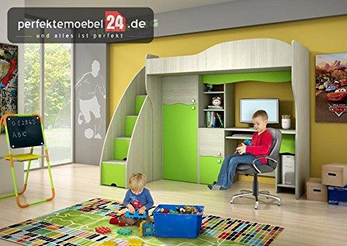 PM_JO10 Kinder Jugendzimmer SET Multifunktionsbett Schrankwand erweiterbar!