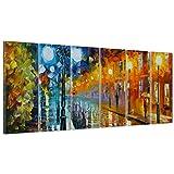 QUADRO SU TELA CANVAS - INTELAIATO - PRONTO DA APPENDERE - Arte Moderna - Leonid Afremov Style Impressionismo - Effetto Dipinto a Mano Olio - 190x70cm (cod.337)