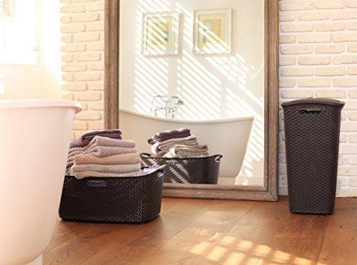 CURVER Wäschekorb MY STYLE 47L Wäschekorb, Kunststoff, Dunkelbraun 60x39x28 6