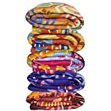 Freehomestyle 5 Piece Combo Multicolor Printed Super Soft Single Bed Fleece Winter Blanket
