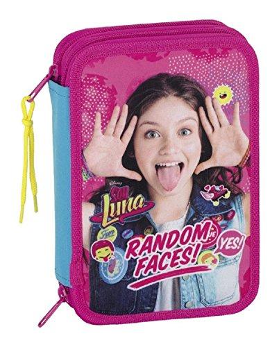 S1/Soy Luna, estuche escolar doble compartimentos con 34piezas