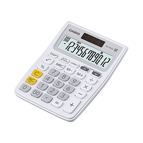 Casio MJ-12VCB-WE Desktop Calculator (White)