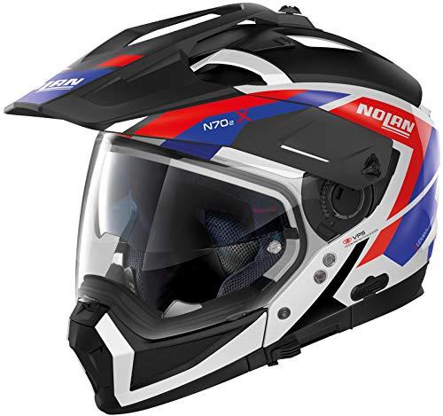 Nolan N70-2 X Grandes Alpes N-Com Helm Schwarz/Rot/Blau M (58)