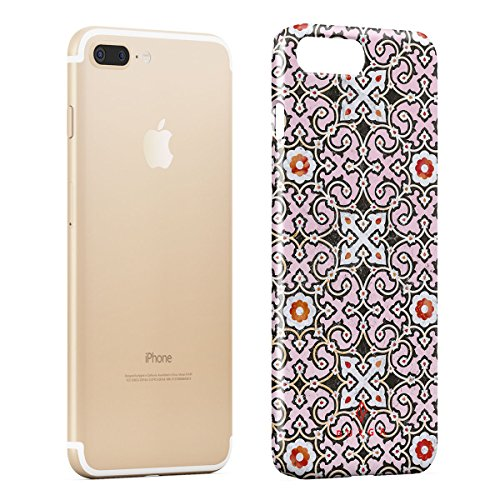 BURGA, Rosa Marmo Mosaico Moroccan Tile Marocchino Belle Elegante Design Sottile, Guscio Resistente In Plastica Dura, Custodia Protettiva Per iPhone 7 Plus / iPhone 8 Plus Case Exotic Spices