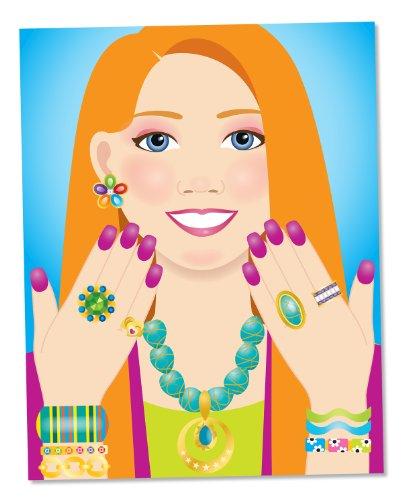 Imagen principal de Melissa & Doug 14223 - Bloc de autoadhesivos de joyas y uñas