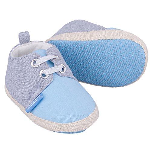 Galeja Tutu by Babyschuhe Jungen Blau Gr. XS 4-6 Monate Sommerschuhe Krabbelschuhe mit ABS Sohle