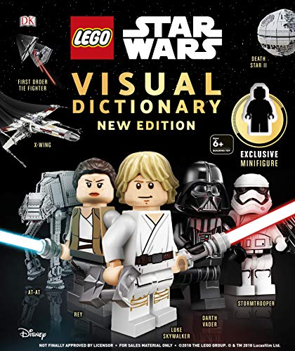 LEGO Star Wars Visual Dictionary New Edition: With exclusive minifigure por DK