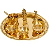 Exotic India Puja Thali for Worship of Lord Hanuman - Brass