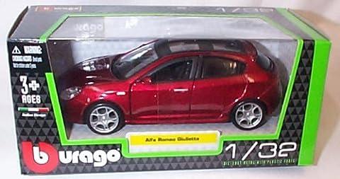 burago metallic red alfa romeo giulietta car 1.32 scale diecast model
