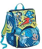 a6c4cba1e0 Zaino scuola sdoppiabile SJ GANG - BOY - Blu - FLIP SYSTEM - 28 LT  elementari