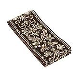 5 Yards*3cm Yalulu Cinta de nailon con cuentas bordadas de encaje para coser y coser caf/é
