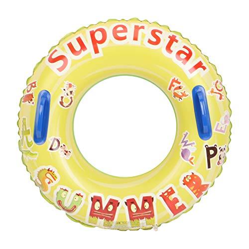 Leader Accessories Schwimmring Aufblasbar Schwimmreifen mit Griffen Kinder ab 8 Jahren 20-40KG Superstar Ø60cm