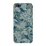 Deco Fairy Beautiful Blue Paisley Hard Schutzhülle iPhone 4/4S