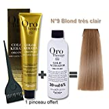 Lot coloration cheveux 100 ml Oro Therapy blond tr