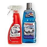 SONAX Xtreme Shampoo 2 in 1 1L + Flugrostentferner 500ml Außenreinigung Rost