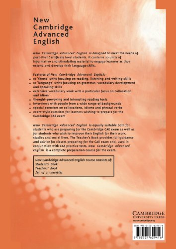New Cambridge Advanced English 2nd Teacher's book