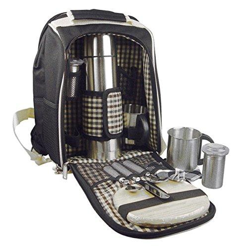 Picknickrucksack mit integr. Kühltasche -Picknicktasche mit Geschirr