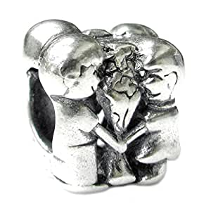 Queenberry Dating Lover, in argento Sterling, con Charm a forma di fiore, stile europeo