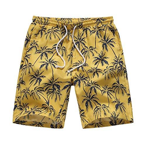 Herren Laufen Board Shorts mit einstellbare, Slim fit Schnitt Besonders weich und bequem Herren Sweatshorts Kurze Hose,Lässige Strand-Shorts für Herren 1 4XL