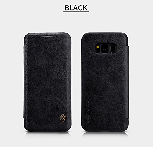 Nillkin Qin Series Royal Leather Flip Case Cover Case For Samsung galaxy S8 – Black
